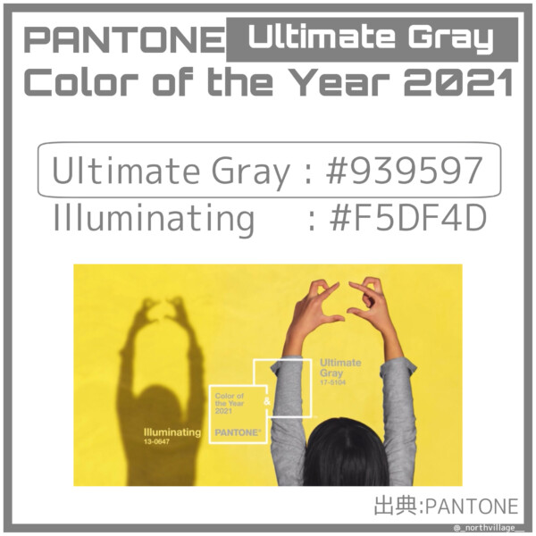 PANTONE Color of the Year 2021:Ultimate Gray