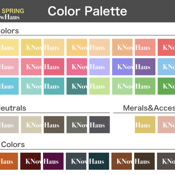 SPRINGのカラーチャート:Light Spring